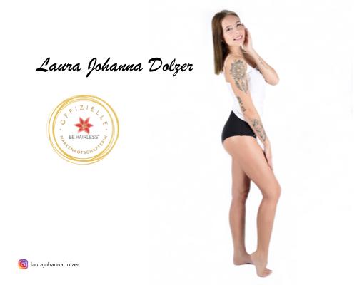 Markenbotschafterin Laura Johanna Dolzer - BE HAIRLESS dauerhafte Haarentfernung Linz
